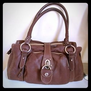Miu Miu Brown Leather Satchel Bag
